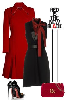 Untitled #745 by jovana-p-com on Polyvore featuring polyvore fashion style Gucci Roland Mouret Christian Louboutin clothing