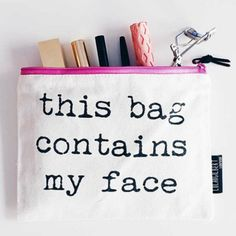 My Shining Armour This Bag Contains My Face Pouch Kylie Jenner, Travel Toiletries, Travel Kits, Makeup Case, Wash Bags, Toiletry Bag, Beauty Hacks, Beauty Tips, Beauty Products