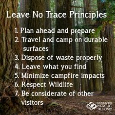 Caring for my environment optional #26 - Plan and implement Leave No Trace event for troop.