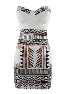 Retro Open Back Printed Dress