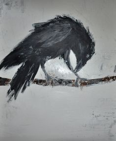 "Gerdi Jansen 'Nevermore spoke the raven (2)', Acrylic on paper, 25.2"" x 19.7"""