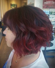 Red ombre. Fall is coming! #goldwell #kwhair #kwawesome #ombre #redhair #redombre