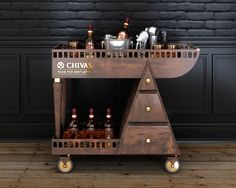 Chivas drink cart on Behance Trolley Cart, Drinks Trolley, Bar Cart, Corner Bar, Coffee Corner, Perrier Jouet, Drink Cart, Coffee Wine, Bars For Home