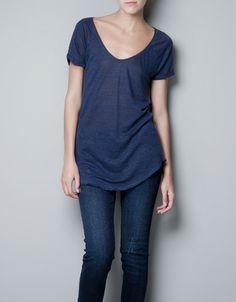 PLAIN T-SHIRT - T-shirts - Woman - ZARA Philippines