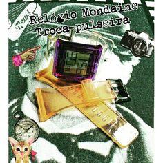 Relógio Mondaine vinil  Troca  pulseiras Bom  dia  segunda!  uohbrecho #moda #instagood #relogios #mondaine #clock #pretty #style #love #cool #fashionstyle #vinil #good #smile  #follow #fashion #fun #ootw #ootd #believe   #peace  #thankful #life  Made with @nocrop_rc #rcnocrop