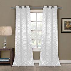 Mercury Row Pixley Blackout Curtain Panels Color: White