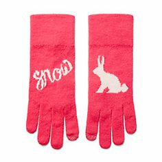 Cashmere Snow Bunny Gloves, $58!
