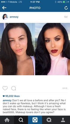 Love Amrezy, She's a beautiful woman with or without makeup. She says it best here #makeuplovers #passion