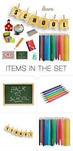 """school"" by abuffaloe on Polyvore featuring art"
