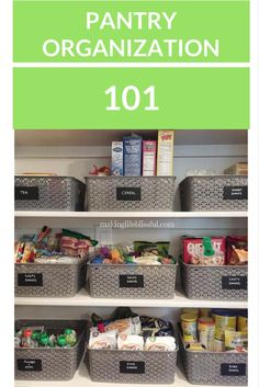 How to Organize Your Pantry for Dummies! 7 tips to get your pantry organized and clean! These pantry organization tips will help get you started on your spring cleaning!