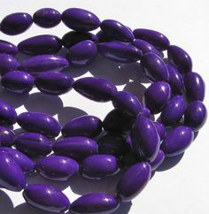 Purple Violet Bombona Beads, 15 Inch Strand, Organic Beads, Natural Beads, Palm Beads, EcoBeads