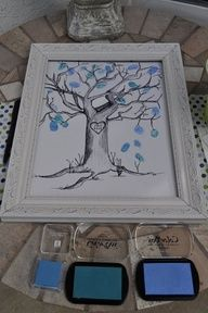 Everyone at baby shower puts a thumb print on the tree, for baby book. Wanting to do this the next time I get to throw a baby shower! Idee Baby Shower, Bebe Shower, Fiesta Baby Shower, Baby Boy Shower, Baby Shower Gifts, Baby Gifts, Shower Party, Baby Shower Parties, Baby Shower Themes