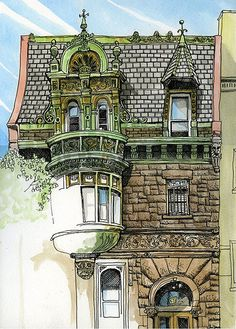 Old Building: A great ink illustration I ran across