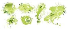 Premium green floral free vector pattern @freebievectors