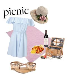 """""""Picnic Time"""" by egaemgyu on Polyvore featuring Miss Selfridge, Les Jardins de la Comtesse and Penny Loves Kenny"""