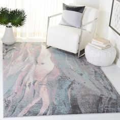 SAFAVIEH Glacier Bree Modern Abstract Rug - On Sale - Overstock - 11724988 - 9' x 9' Square - Red/Multi Square Rugs, 9 Square, Round Rugs, Online Home Decor Stores, Online Shopping, Pink Rug, Modern Rugs, Cool Rugs, Blue Area Rugs