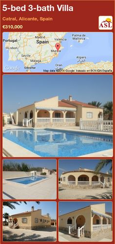 5-bed 3-bath Villa in Catral, Alicante, Spain ►€310,000 #PropertyForSaleInSpain
