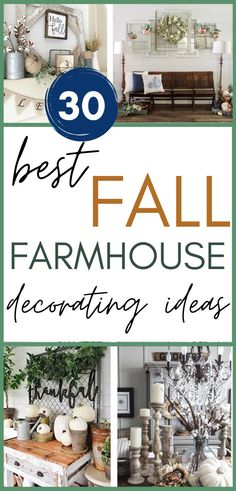 If you love to decorate for fall and enjoy looking at what others have done, you're going to LOVE this inspiration! Here are 30 different homes showing off their mantels, living rooms, console tables, dining areas and kitchens! Gorgeous styling that is so easy to imitate! Come be inspired! #fall #farmhouse #homedecor #mantels #livingrooms #tablescapes Autumn Decorating, Decorating Your Home, Fall Decor, Interior Decorating, Fall Living Room, Living Rooms, Farmhouse Style Decorating, Farmhouse Decor, Console Tables