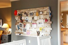 I love this! I always tape ticket stubs and bits of stuff upon my closet door, this would be a beautiful way to make my collage more grown up!