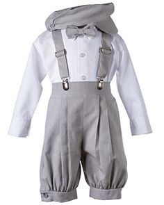 Boys Lt Grey Linen Knicker Outfit for Baby and Toddlers (. Boys Formal Wear, Boys Wear, Toddler Outfits, Boy Outfits, Wedding Outfit For Boys, Boys Tuxedo, Thing 1, Page Boy, Boys Suits