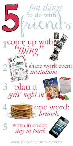 5 Fun Things to Do With Friends