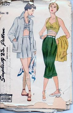 simplicity 3250 vintage pattern