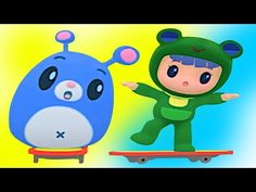 Rubi And Yoyo Animated | Skate Board Tho Adkundham | Rubi And Yoyo Funny Cartoon Series - YouTube