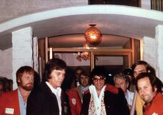 March 7 1974 Off to perform his evening concert in Monroe, LA at the Monroe Civic Center