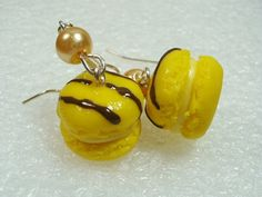 French Macaroon Earrings Polymer Clay by GiraffesKiss on Etsy, £7.50