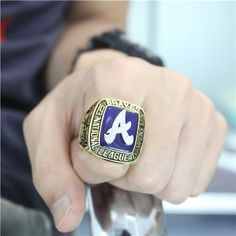 Custom 1991 Atlanta Braves National League Championship Ring - AL & NL Championship Rings - Customized