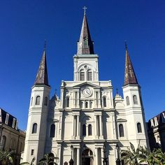St. Louis Cathedral  #neworleans #frenchquarter #historic #church #architecture #cathedral #landmark #nola #sky #blue #catholic #neworleanssquare #igoftheday #igneworleans #lousiana #historical #igersnola #instasky #lookup #igersneworleans by explicitmemory