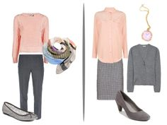 Chic Sightings: Grey and Peach color palette for the capsule wardrobe | The Vivienne Files