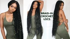 4 hr Braid-in Locs Tutorial   Super Long Doubled Crochet Locs   NEW! Faux Locs Method [Video] - https://blackhairinformation.com/video-gallery/4-hr-braid-locs-tutorial-super-long-doubled-crochet-locs-new-faux-locs-method-video/