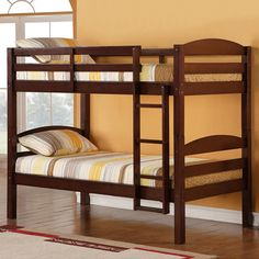 $270 BUY NOW  Best to Separate  This solid wood bunk bed is built to last. Unlike traditional twin bunks, this one converts into two beds — that way you don't have to buy new ones when your kids stop bunking. Each bed holds up to 250 pounds, and they can sleep in these beds until college.