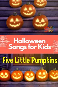 Five little Pumpkins is a great song to get kids counting and learning about emotions. This song compliments a lesson plan about feelings and emotions, Halloween, and counting. Have fun! Preschool Songs, Kids Songs, Craft Activities For Kids, Toddler Preschool, Teaching Emotions, Feelings And Emotions, Teaching Kids, Halloween Songs, Halloween Kids