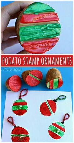 Potato Stamp Ornaments