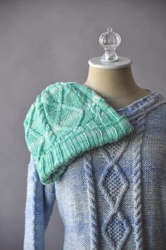 Free Pattern Friday – Hazy Hat and Pullover knit in Universal Yarn Uptown Worsted Mist