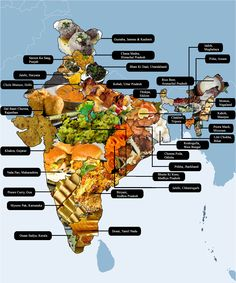 Indian food map!