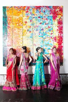 so beautiful... love the colors of these saris