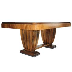 6 Extensions Art Deco Dining Table - Fits 18/20 People   From a unique collection of antique and modern dining room tables at http://www.1stdibs.com/furniture/tables/dining-room-tables/