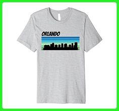 Mens Retro Orlando Shirt: 1970's Style Skyline Silhouette 2XL Heather Grey - Retro shirts (*Amazon Partner-Link)