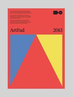 ArtFad 2013 Identity by Hey Studio