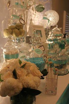 Tiffany's Christmas dessert table #christmas #tiffanys