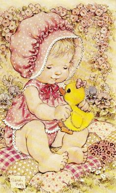 Sarah Kay Collezione Intercards No. Sarah Key, Hobbies For Women, Hobbies To Try, Finding A Hobby, Hobby Horse, Holly Hobbie, Precious Children, Cute Little Girls, Cute Illustration