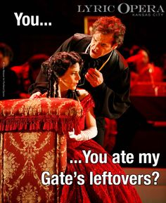 LOL (Lots of Opera Laughs) Violetta and Alfredo love barbecue too! #kansascity