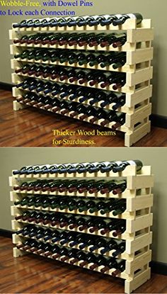 Stackable Modular Wine Rack Stackable Storage Stand Display Shelves, Wobble-Free, Pine wood, Bottle Capacity, 12 rows x Wine Bottle Storage, Wine Rack Storage, Wine Bottle Holders, Wine Bottles, Wood Wine Racks, Wine Rack Wall, Wine Display, Display Shelves, Stackable Wine Racks