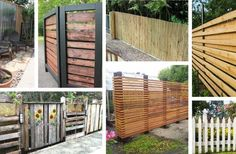 Do it yourself fences are relatively easy to build and can add a lot to your property& value and the look of your yard. Find the best designs! Outdoor Wood Projects, Diy Outdoor Furniture, Backyard Projects, Backyard Ideas, Patio Ideas, Outdoor Ideas, Garden Ideas, Landscape Design, Garden Design