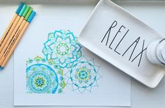 my source of relaxation🤗 (work in progress)  •  •  •  #mandala #mandaladesign #zendala #zentangle #zentangleart #colorfulmandala #blueandgreen #mandalatattoo #zenart #zendoodle #zentangler #zentangleartist #colorful #relax #spring