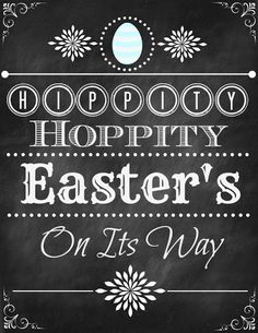 BLISSFUL ROOTS: Hippity, Hoppity Easter Printable