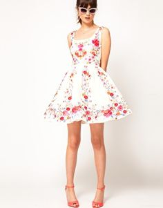 Enlarge ASOS Skater Dress in Floral Embroidery  Beautiful embroidery